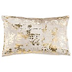Safavieh Edmee 12-Inch x 20-Inch Rectangle Pillow in Beige/Gold