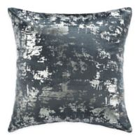 Safavieh Edmee 20-Inch Square Pillow in Medium Blue/Silver