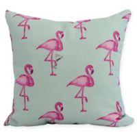 E by Design Flamingo Heart Martini 16-Inch Square Pillow in Aqua