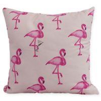 E by Design Flamingo Fanfare Martini 16-Inch Square Pillow in Pink