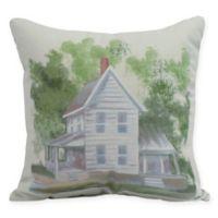 E by Design Farmhouse 16-Inch Square Pillow in White
