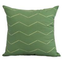 E by Design Harlequin Stripe 16-Inch Square Pillow in Green