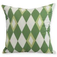 E by Design Harlequin Diamond 16-Inch Square Pillow in Green