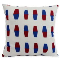 E by Design Bowling Pins Square Pillow in Red
