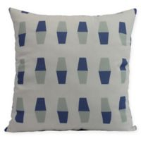 E by Design Bowling Pins Square Pillow in Blue
