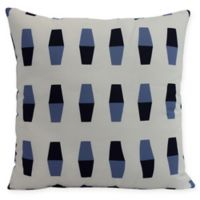 E by Design Bowling Pins Square Pillow in Navy Blue