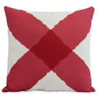 E by Design X Marks the Spot Square Throw Pillow in Red