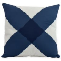 E by Design X Marks the Spot Square Throw Pillow in Navy