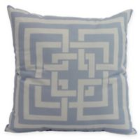 E by Design Greek New Key Square Throw Pillow in Blue