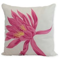 E by Design Hojaver Floral Square Throw Pillow in Pink