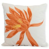 E by Design Hojaver Floral Square Throw Pillow in Orange