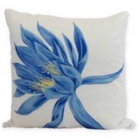 E by Design Hojaver Floral Square Throw Pillow in Royal Blue