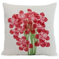 E by Design Florpalida Square Throw Pillow in Red