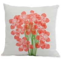 E by Design Florpalida Square Throw Pillow in Orange