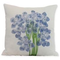 E by Design Florpalida Square Throw Pillow in Blue