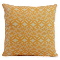 E by Design Greeko Simple Square Throw Pillow in Yellow