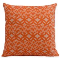 E by Design Greeko Simple Square Throw Pillow in Orange