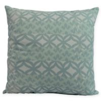 E by Design Greeko Simple Square Throw Pillow in Aqua