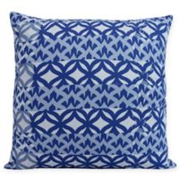 E by Design Greeko Simple Square Throw Pillow in Royal Blue