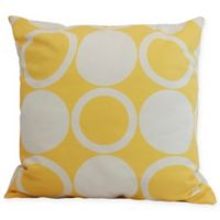 E by Design Mod Circles Square Throw Pillow in Yellow