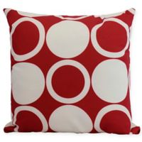 E by Design Mod Circles Square Throw Pillow in Red
