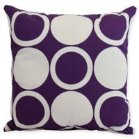 E by Design Mod Circles Square Throw Pillow in Purple