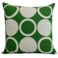 E by Design Mod Circles Square Throw Pillow in Green