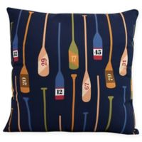 E by Design Oar Numbers Square Throw Pillow in Navy