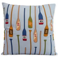 E by Design Oar Numbers Square Throw Pillow in Blue