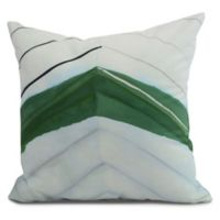 E by Design Boat Bow Center Square Throw Pillow in Green