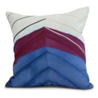 E by Design Boat Bow Center Square Throw Pillow in Royal Blue