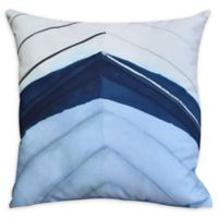 E by Design Boat Bow Center Square Throw Pillow in Blue