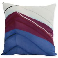 E by Design Boat Bow Left Square Throw Pillow in Royal Blue