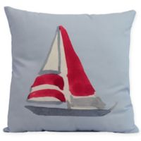 E by Design Sail Away Square Throw Pillow in Blue