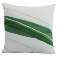 E by Design Boat Bow Wood Square Throw Pillow in Green