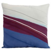 E by Design Boat Bow Wood Square Throw Pillow in Royal Blue