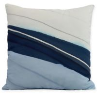 E by Design Boat Bow Wood Square Throw Pillow in Blue
