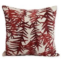 E by Design Spikey Square Throw Pillow in Red