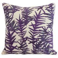 E by Design Spikey Square Throw Pillow in Purple