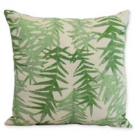 E by Design Spikey Square Throw Pillow in Green