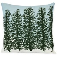 E by Design Hidden Forest Square Throw Pillow in Green