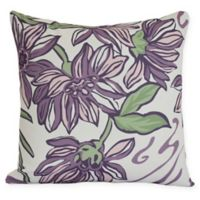 E by Design Iona Square Throw Pillow in Purple