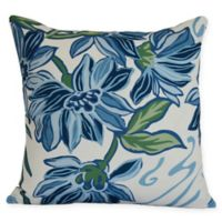 E by Design Iona Square Throw Pillow in Blue