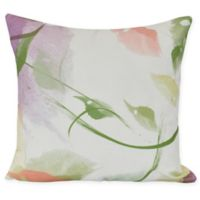 E by Design Windy Square Throw Pillow in Coral