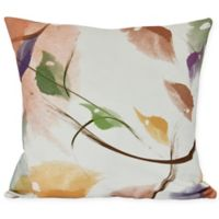 E by Design Windy Square Throw Pillow in Orange