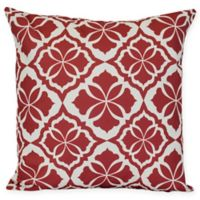 Ceylon Floral Square Throw Pillow in Red