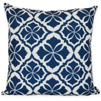 Ceylon Floral Square Throw Pillow in Blue