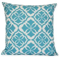 Ceylon Floral Square Throw Pillow in Turquoise