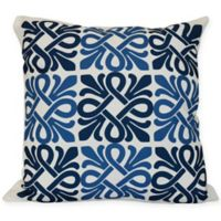 Tiki Square Throw Pillow in Blue