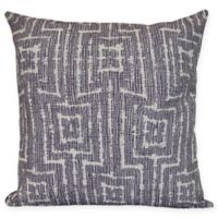 Woven Tiki Square Throw Pillow in Purple